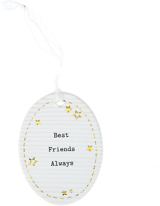 Best Friends - Hanging Oval Plaque