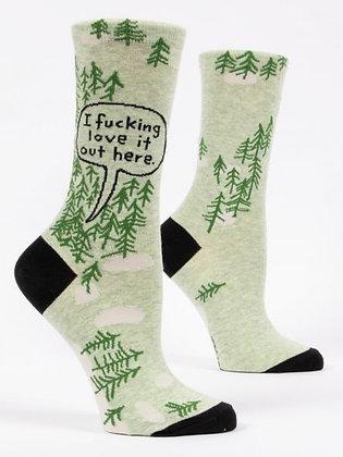 Love It Woods Crew Socks