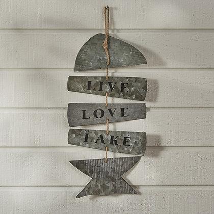 Love Love Lake Galvanized Sign