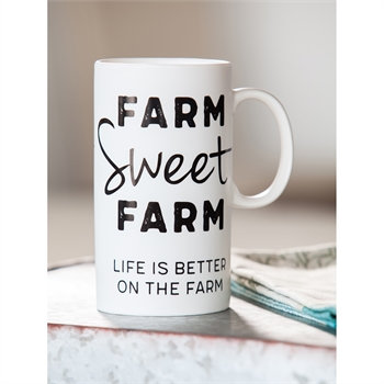 Farm Sweet Farm Tall Ceramic Cup