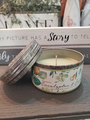 Eucalyptus & Sage Small Tin
