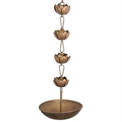 Blossom Rain Chain - Antique Brass