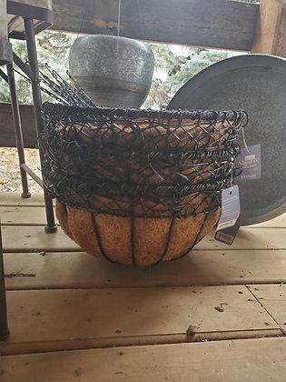 """16"""" Algarve hanging Basket with Cocoliner"""