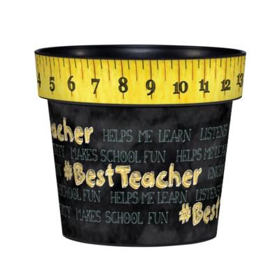 """Best Teacher 6"""" Art Pot"""