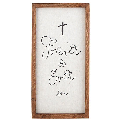 Forever & Ever Wall Sign