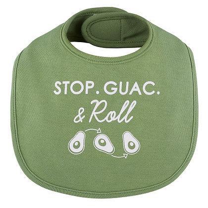 Stop, Guac & Roll Bib 3-12 mo