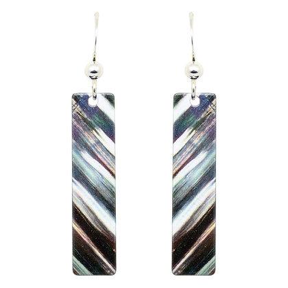 Deep Reflection Prism Earrings