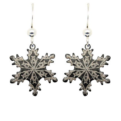Midnight Snowflake Earrings