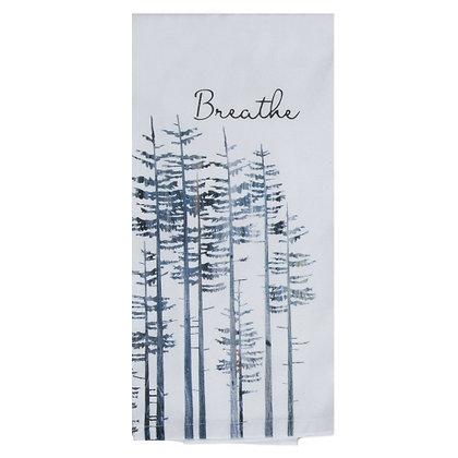 Breathe Pine Trees Tea Towel