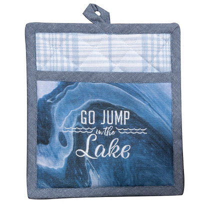 Jump in Lake Pocket Oven Mitt