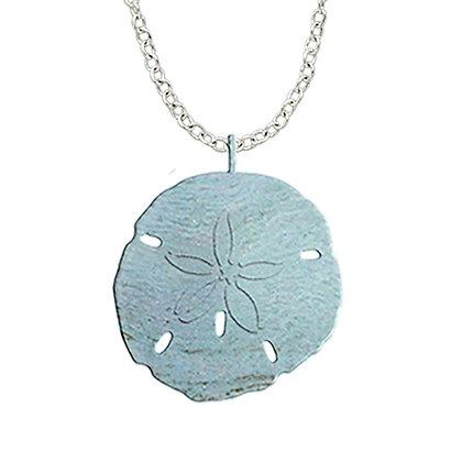 Aqua Sand Dollar Necklace