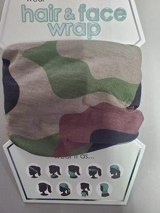 Camo Hair-Face Wrap