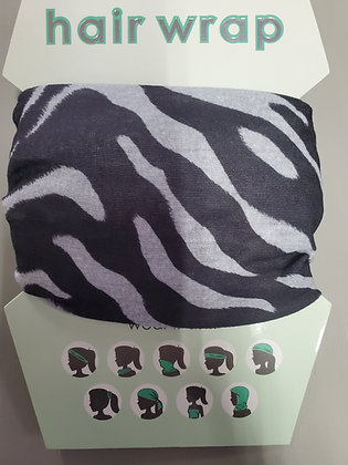 Zebra Print Hair-Face Wrap
