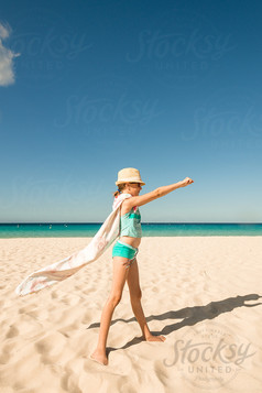 supergirl at beach