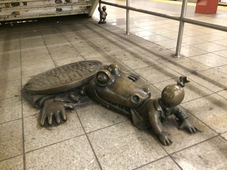 NYC reptile sculpture