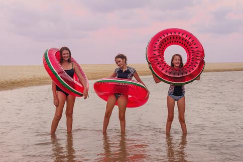 teens at beach