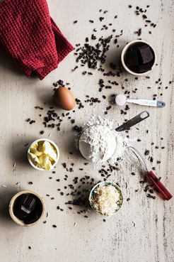 baking ingredients with chocolate