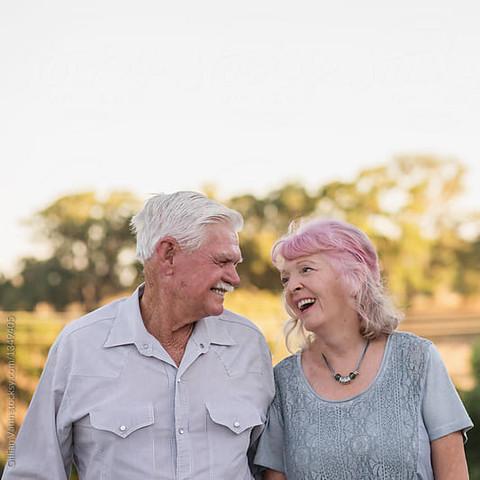 charming senior couple