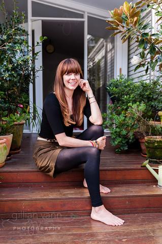 Kate Morton at home, natural