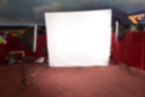 סטודיו נייד מסך לבן וירוק לאירועים