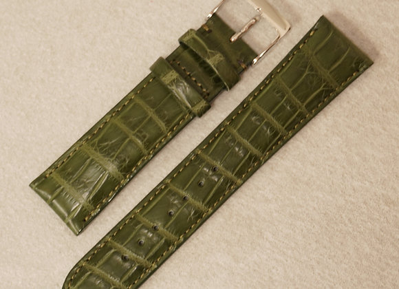 クロコダイル 時計ベルト20mm