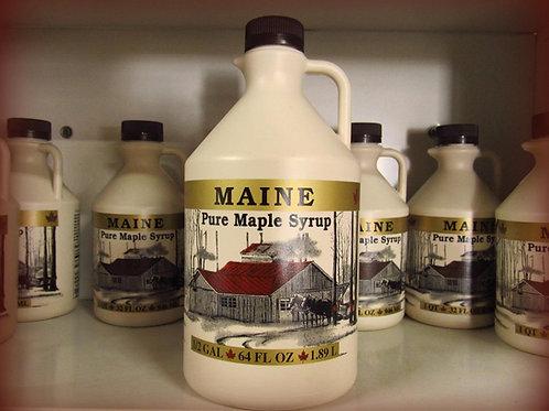 Maine Maple Syrup--Half Gallon Plastic Jug