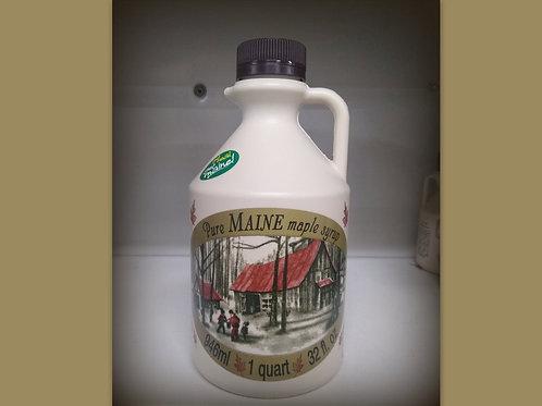 MaineMaple Syrup--Quart Plastic Jug