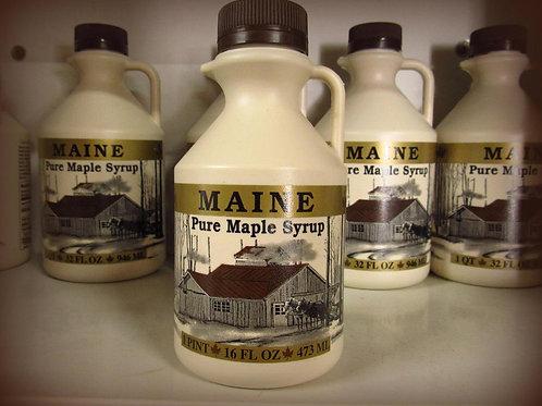 Maine Maple Syrup--Pint Plastic Jug