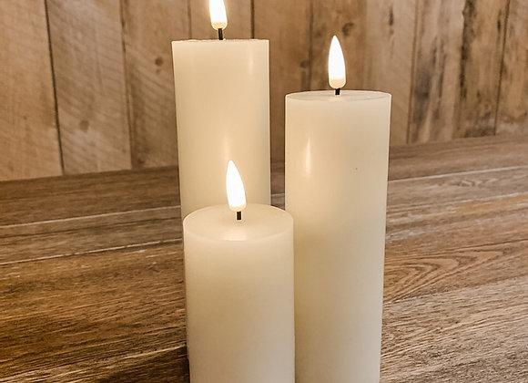 """Flameless Pillar Candles (2"""" Diameter)"""