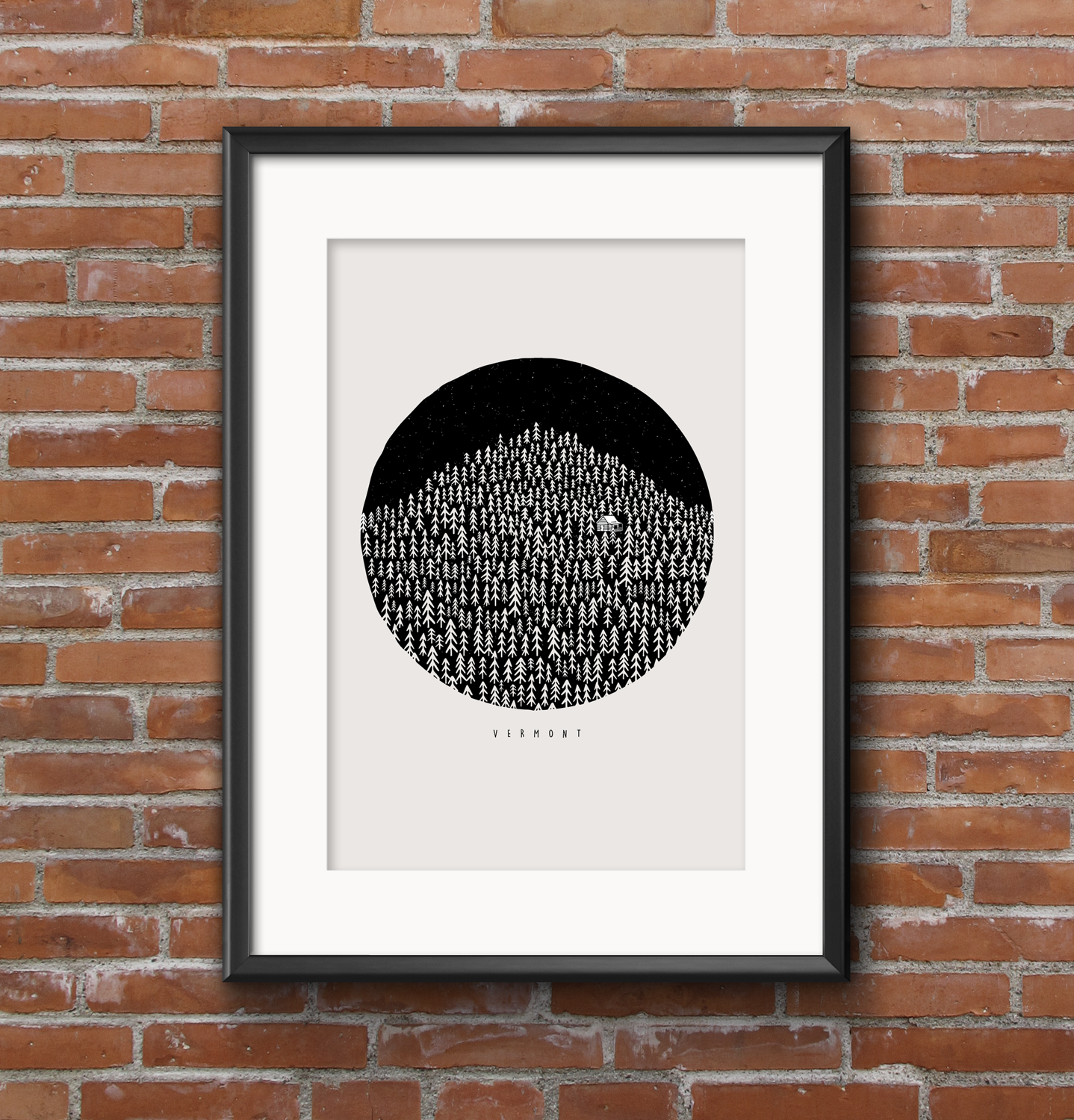 Born in the Woods of Vermont Print
