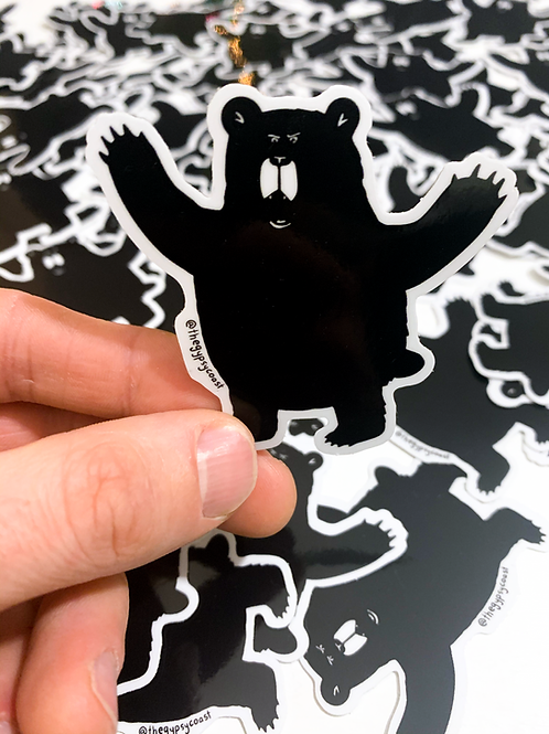 Growly Bear Sticker