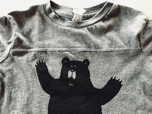 Growly Bear Toddler Football T Shirt