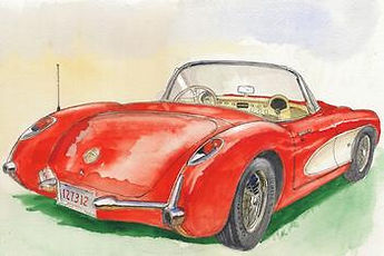 Beautiful rendering of the '57  By Richa