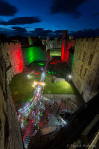 Start of Wales in a Day sportive at Caernarfon Castle