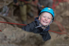 Young enthusiastic rock climber