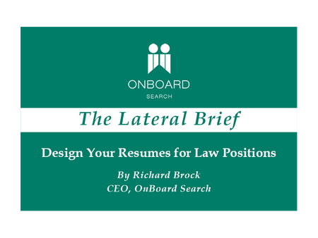 Design Your Resumes for Law Positions