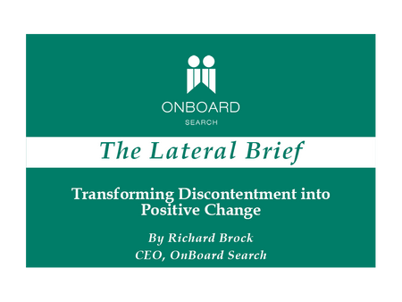 Transforming Discontentment into Positive Change