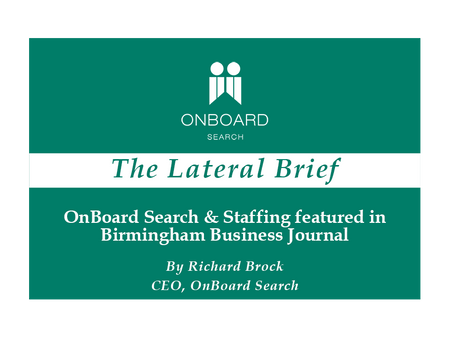 OnBoard Search & Staffing featured in Birmingham Business Journal