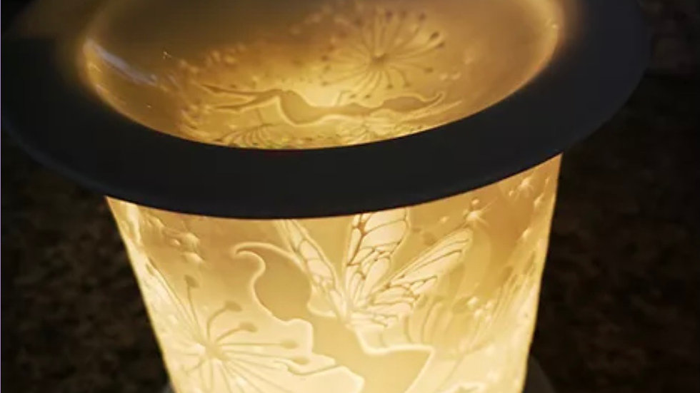 straight edge porcelain etched aroma lamp tinkers