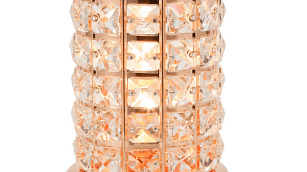 clear rose gold crystal wax aroma touch lamp