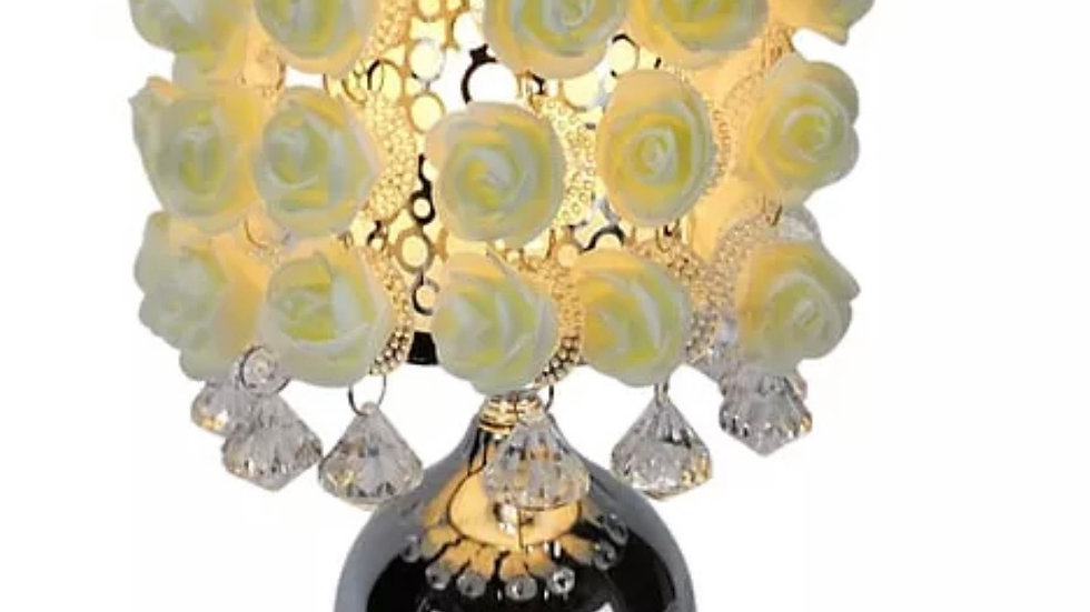Hanging cream roses wax aroma touch lamp