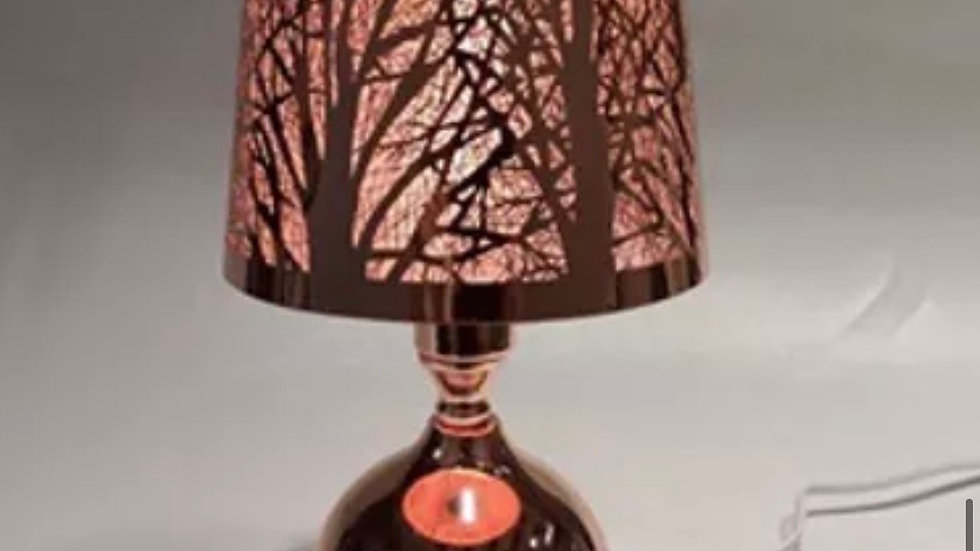 rose gold lampshade wax lamp