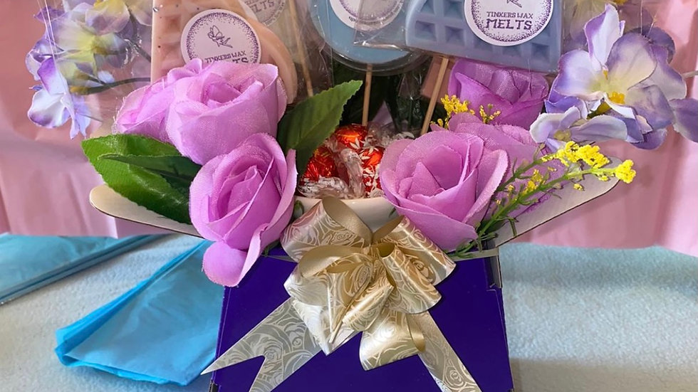Wax and chocolate bouquet (local collection only)