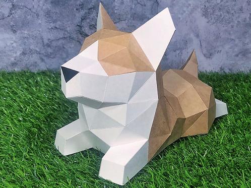 Little Corgi paper craft