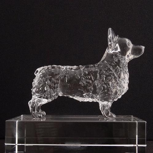 Pembroke Corgi Glass Sculpture
