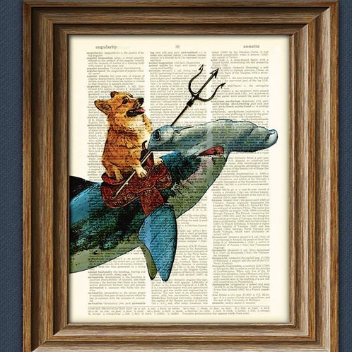 Vintage dictionary page book art print