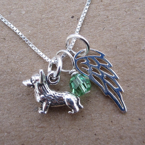 Angel Wing Mini Sterling Silver Custom Necklace