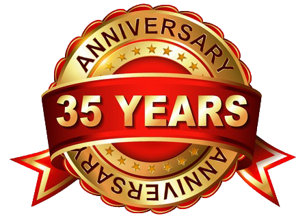 We are celebrating our 35 years Anniversary