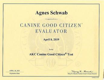 AKC Evaluator Certificate
