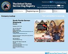 United States Service Dog Registery German Shepherd breeder